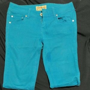 Vanilla Star Pants - Turquoise Denim Jeans